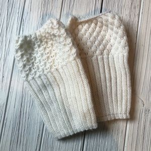 Boot Warmers Crochet Cable Sweater Faux Socks